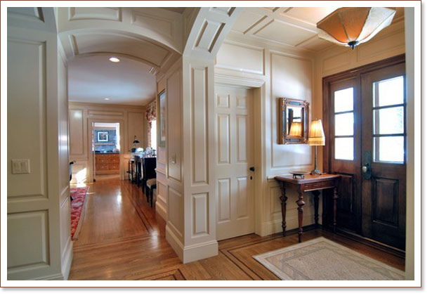 Classic style woodwork and wainscoting