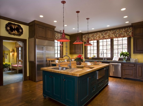 when choosing the perfect wall color, Boston based interior designer Elizabeth Swartz Interiors took into consideration the color of the floor, the color of the cabinetry, the adjacent rooms and the feel she was trying to create.