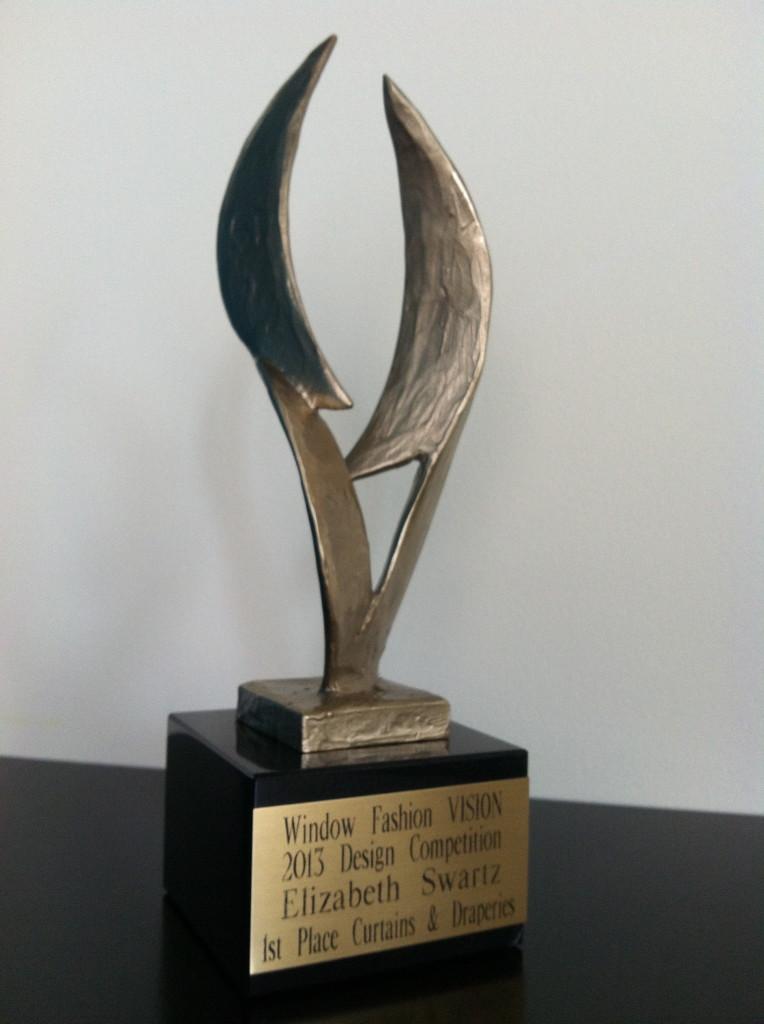 2013 Window Fashion Vision Award - 1st Place Curtains & Draperies awarded to Elizabeth Swartz ASID of Boston Interior Design Firm Elizabeth Swartz Interiors