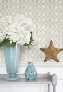 Thibaut Resort collection wallpaper Bribie for fall 2013 features a resort inspired interior design trend