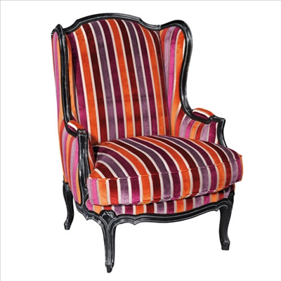 Grange Leonice Armchair featuring shades of Pantone color of the year 2014 radiant orchid