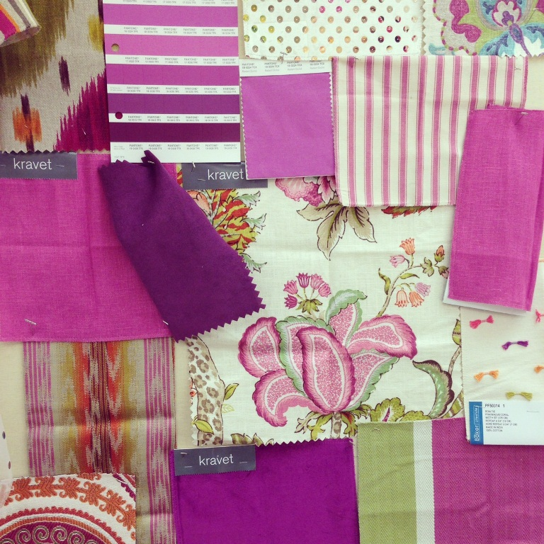Fabrics for interior design from Kravet featuring 2014 color of the year 2014 radiant orchid.