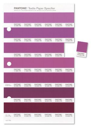 Pantone color of the year 2014 Radiant Orchid swatch card
