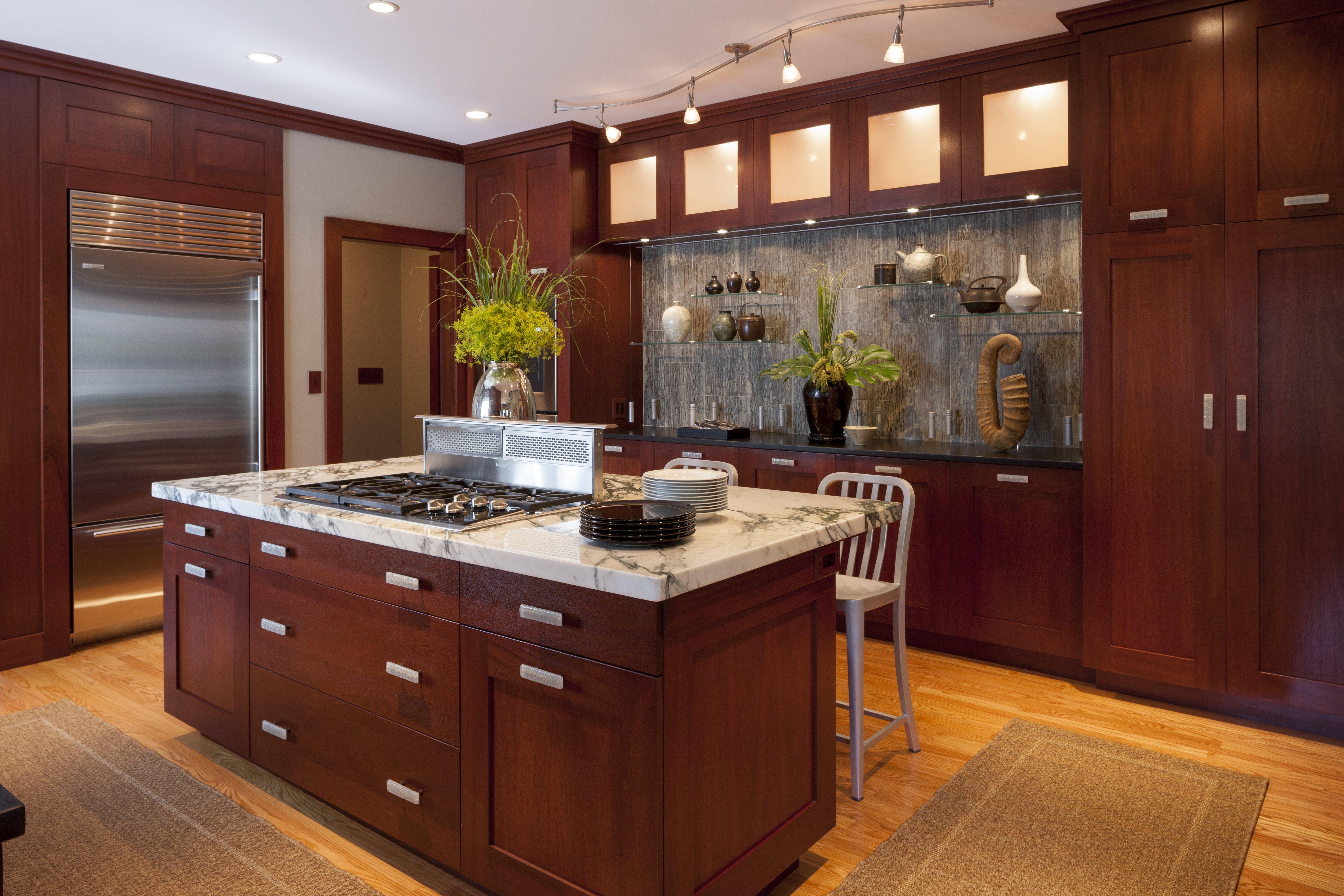 This Kitchen Designed By Boston Interior Designer Elizabeth Swartz Interiors Features Layered Lighting That Utilizes
