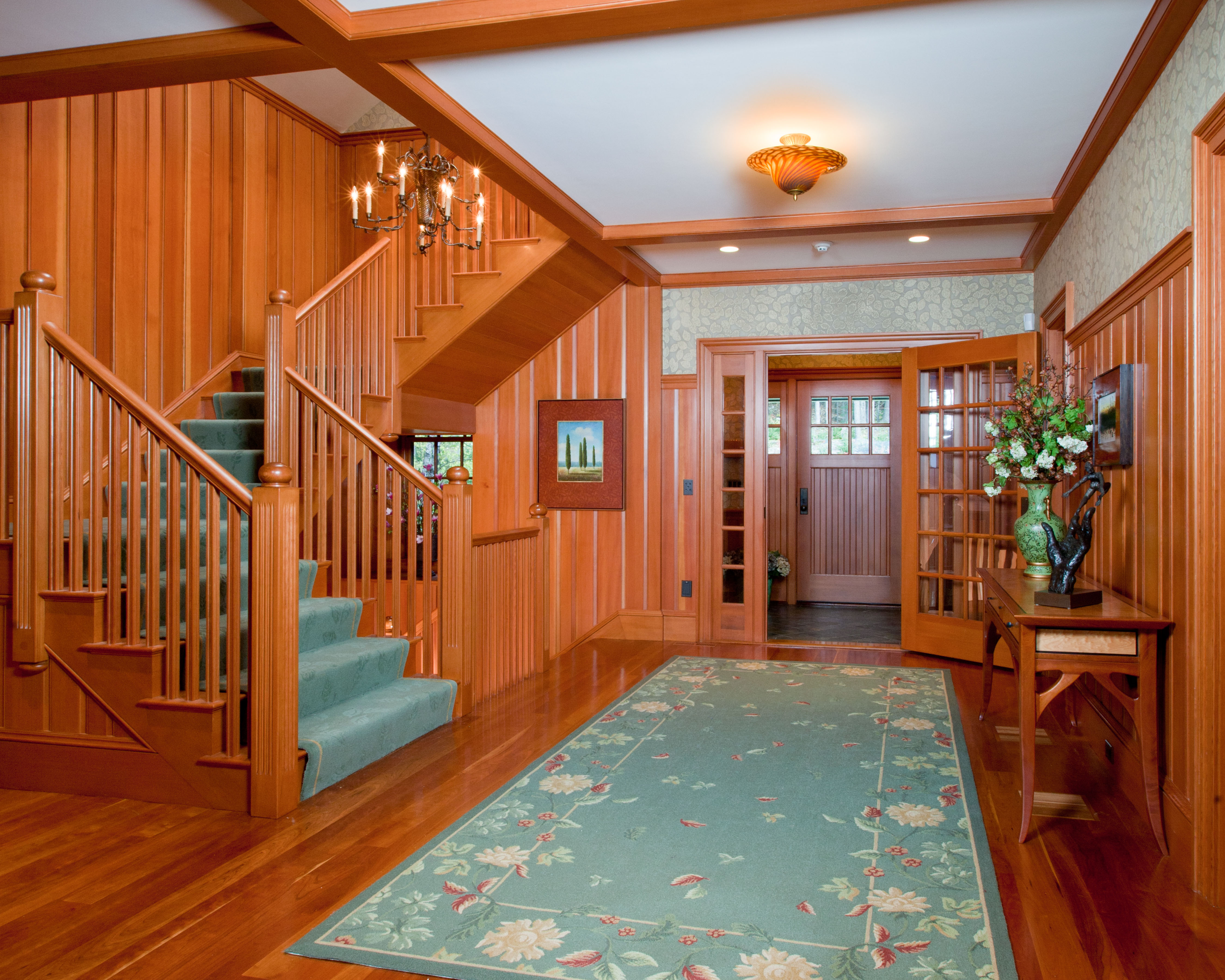 In order to sell your home, if wood floors are showing wear, consider refinishing them. If damage is minimal, use a clever arrangement of area rugs to hide the worn areas. Have all rugs and carpets cleaned, especially if you have pets.