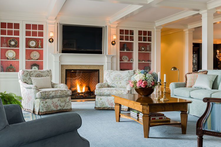Custom Cabinetry Fireplace Surround by Elizabeth Swartz Interios