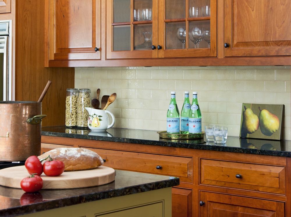 subway tile kitchen backsplash by Elizabeth Swartz Interiors