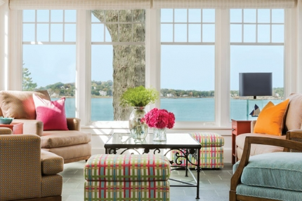 This light and bright coastal home features a contemporary interior design functional for everyday family life, yet chic enough for entertaining.