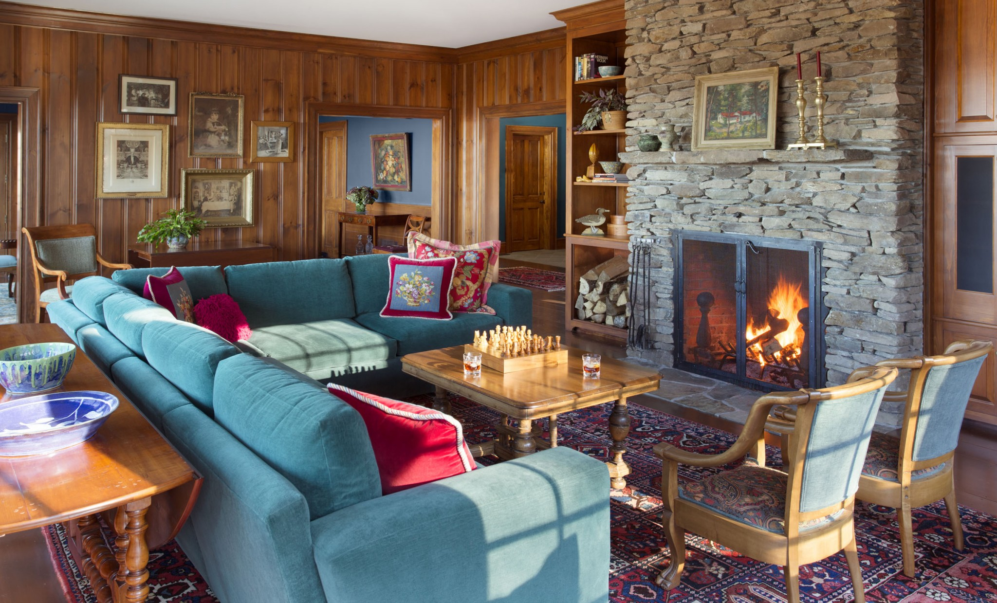 Vermont interior design for The family room vermont