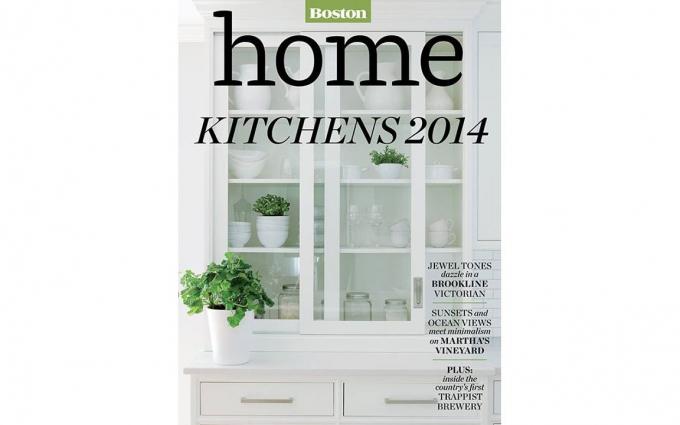 This Boston Home Magazine features an outdoor kitchen design by Boston Interior Designer Elizabeth Swartz Interiors.