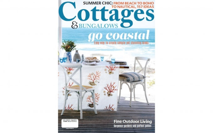 This issue of Cottages & Bungalows features seaside cottage interior design by Boston interior designer Elizabeth Swartz Interiors.