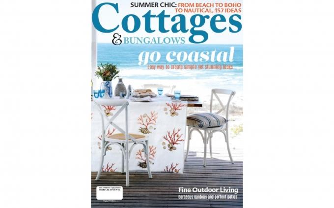 This issue of Cottages & Bungalows features seaside cottage interior design by Boston interior designer Elizabeth Swartz Interiors.