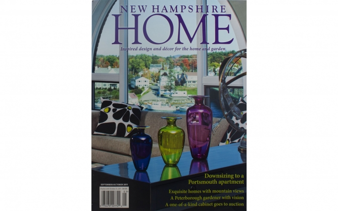 This issue of New Hampshire Home features the mountain home interior designed by Boston Interior Designer Elizabeth Swartz Interiors.