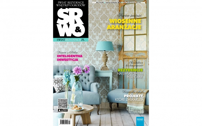 Polish Magazine SRWO features bathroom cabinetry designed by Boston-based Elizabeth Swartz Interiors blends color, style and efficient storage.