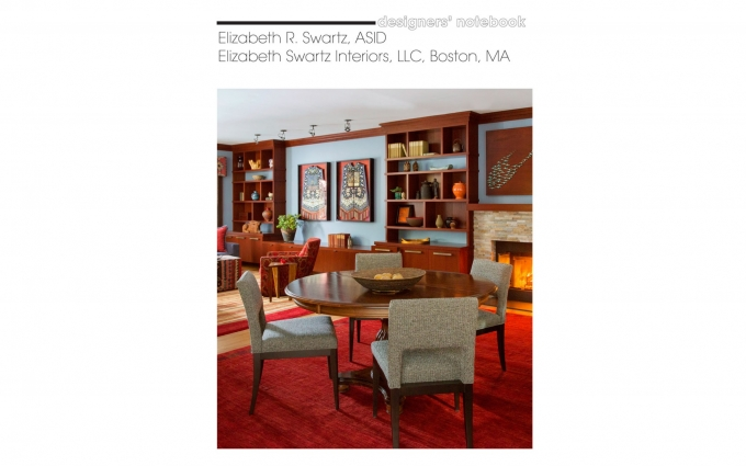 Rug News & Design features information from Elizabeth Swartz ASID of Boston Interior Design firm Elizabeth Swartz Interiors on how to choose the right rug for your interior.