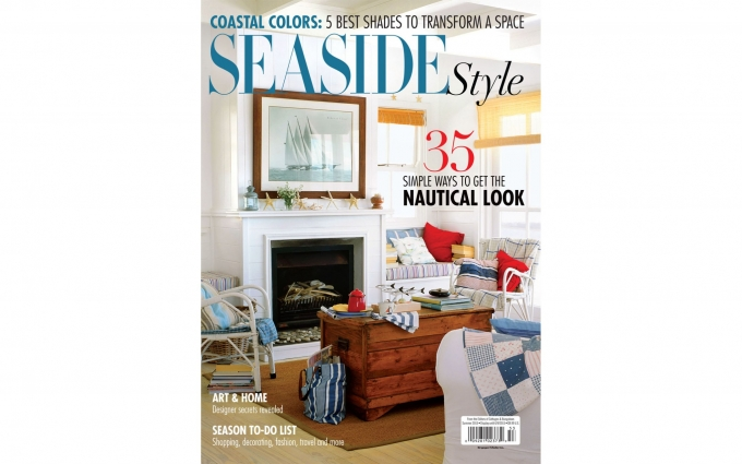 Seaside Style Magazine featuring the contemporary style of a seaside home with interior design by Elizabeth Swartz Interiors.
