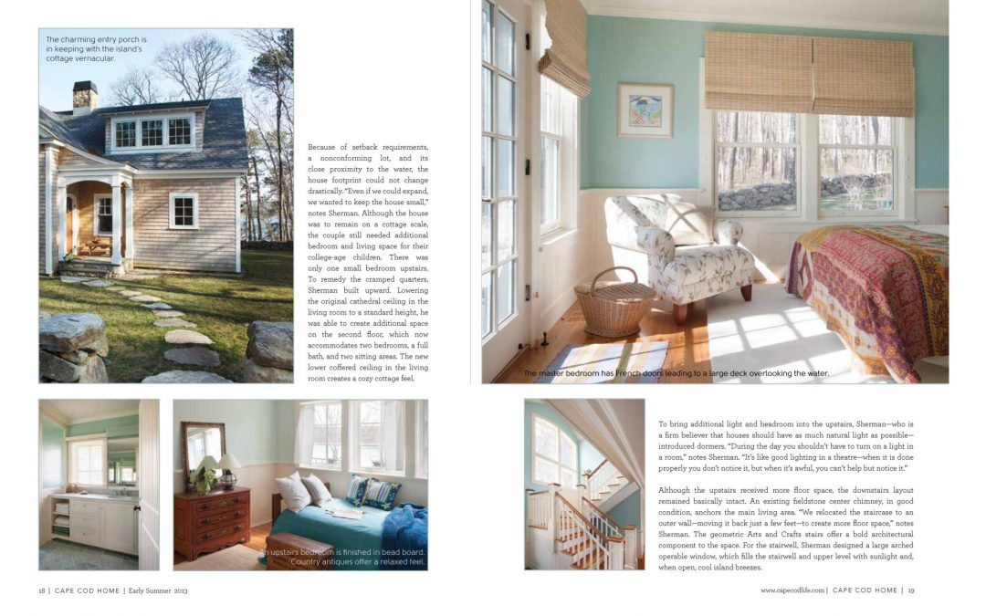 "Third and Fourth pages of article in Cape Cod Home called ""Cottage Charms"" featuring interior design by Boston Interior Designer Elizabeth Swartz Interiors."