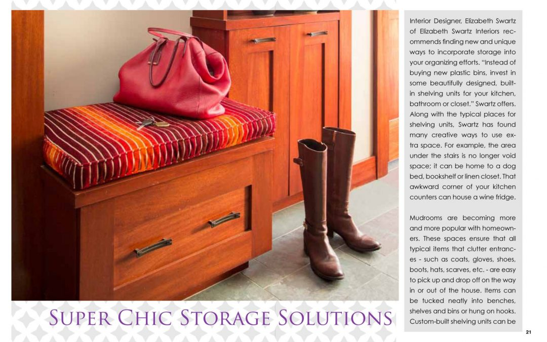 In this article by International Furnishings and Design, Elizabeth Swartz, ASID, discusses unique and creative ways to add storage and style to your home.
