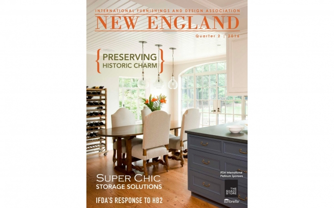International Furnishings and Design includes an article featuring storage solutions by Boston interior designer Elizabeth Swartz Interiors.