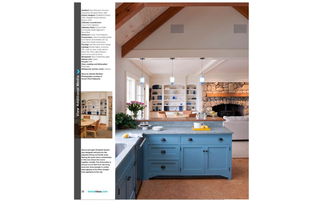 "Fifth and sixth pages of Kitchen Trends Magazine Article ""Petite Charms"" featuring interior design by Boston Interior Designer Elizabeth Swartz Interiors."