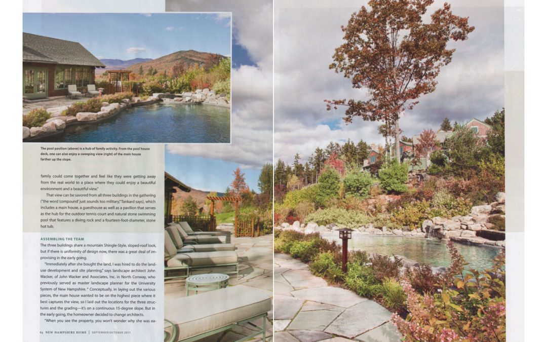 "Fifth and sixth pages of New Hampshire Home Magazine Article ""An Extraordinary Home for and Extraordinary Site"" featuring interior design by Boston interior designer Elizabeth Swartz Interiors."