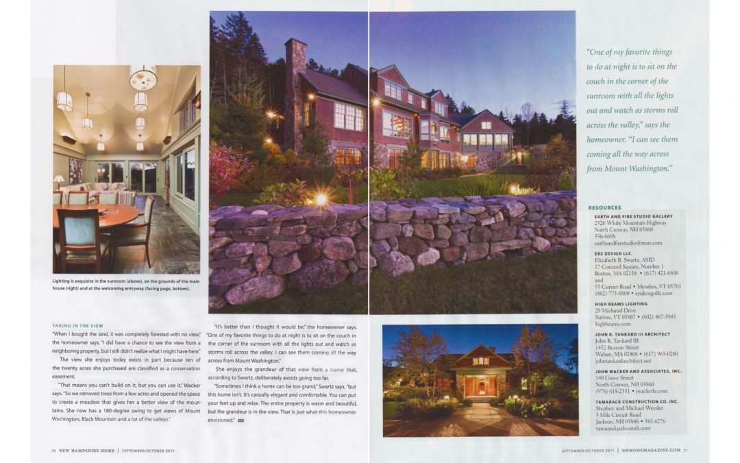 "Eleventh and twelfth pages of New Hampshire Home Magazine Article ""An Extraordinary Home for and Extraordinary Site"" featuring interior design by Boston interior designer Elizabeth Swartz Interiors."