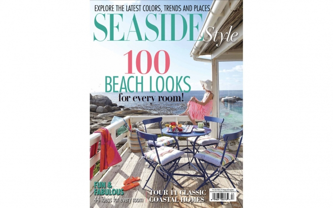 Seaside Style Magazine featuring the island inspired color palette of a Martha's Vineyard home designed by Boston interior designer Elizabeth Swartz Interiors.
