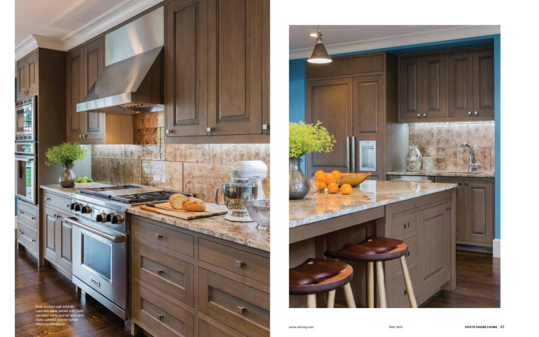 "Seventh and eighth pages of South Shore Living Magazine Article ""All Things Bright and Beautiful"" featuring interior design by Boston Interior Designer Elizabeth Swartz Interiors."