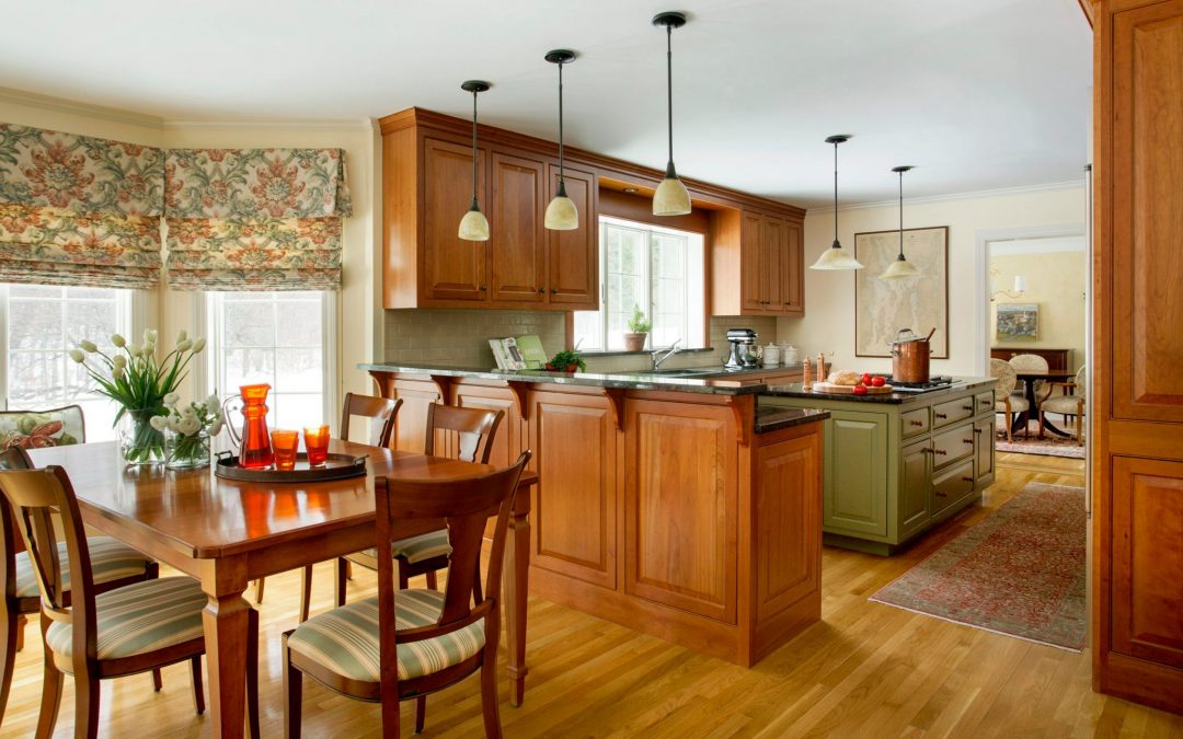 The Kitchen Of This Boston Area Home Features A Modern Interior With  Traditional Colonial Architecture ...
