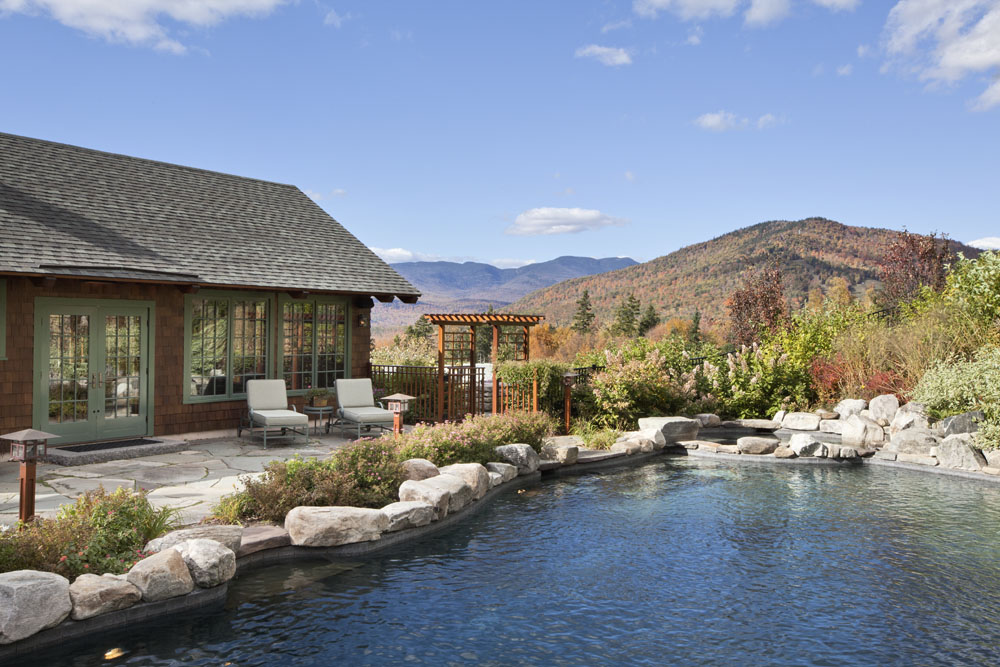 Summertime and living outdoors is easy when you have breathtaking mountain views like this.