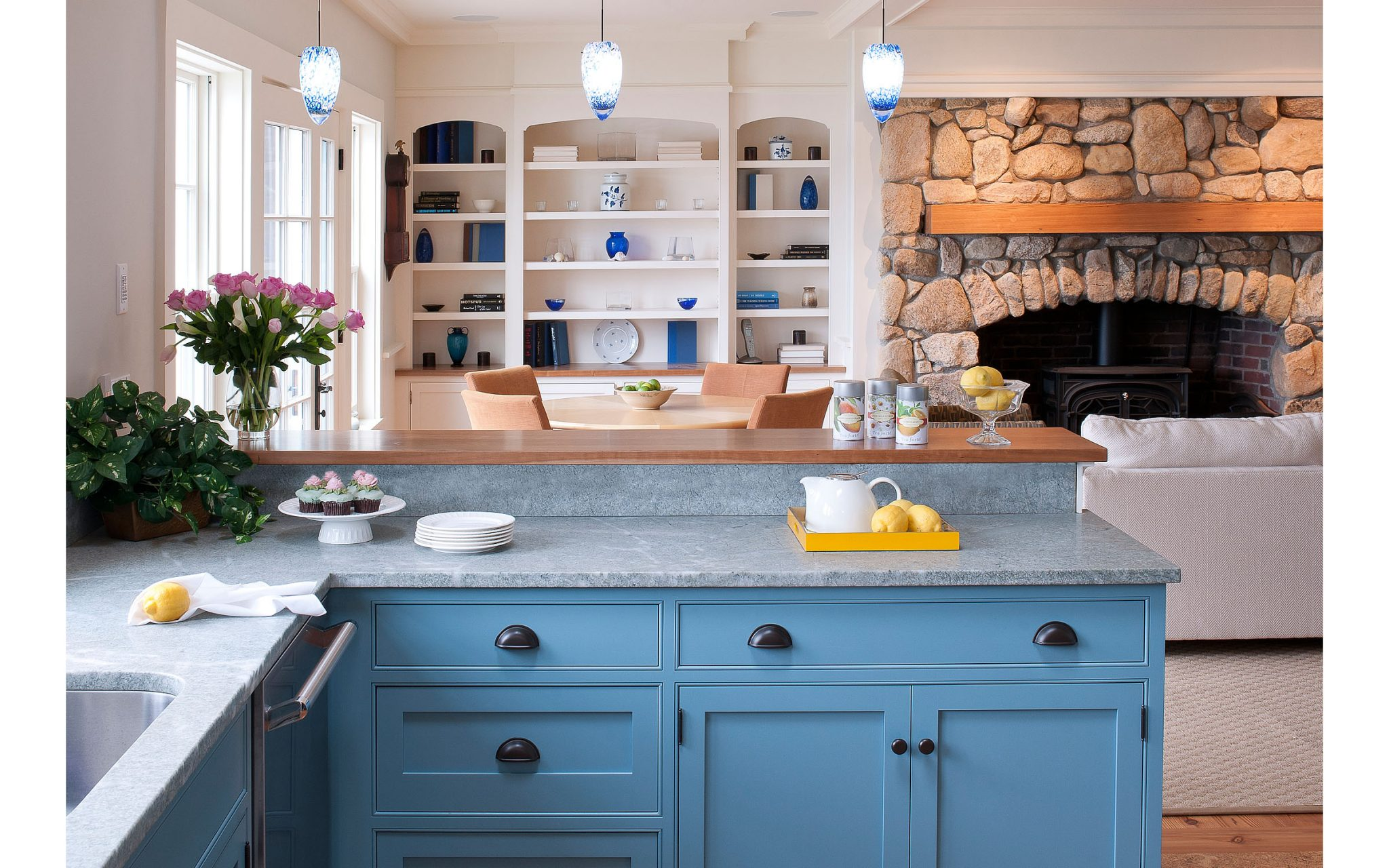 Colorful Kitchen Design Ideas 1 from Boston interior designer Elizabeth Swartz Interiors.